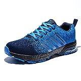 AZOOKEN Zapatillas de Gimnasia Running Zapatos Deportivos Aire Libre y Deporte Respirable Sneakers para Hombre Mujer(8702-1Blue38)