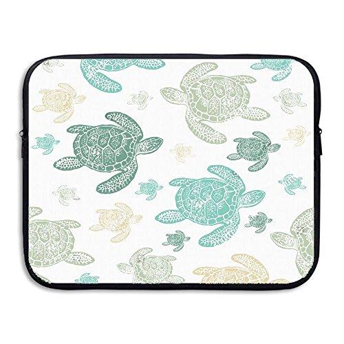 ZMviseGreen Sea Turtles die schlanke, gepolsterte Laptop weicher neopren - ärmel Tasche Fall Decken für Notebook - Computer ipad - Tablet