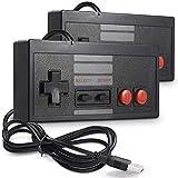 Pro Controller para Nintendo Switch 2 Pack, controlador de juegos USB para juegos NES, Retro Gamepad para Windows Mac Mac Linux PC - Negro