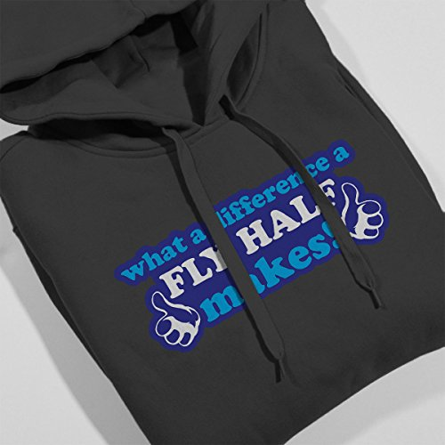 What A Difference A Fly Half Makes Men's Hooded Sweatshirt Charcoal