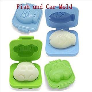 achievess (TM) 2Pcs gekochtes Ei Sushi Reis Form Bento Maker Sandwich-Ausstechform Mond Kuchen dekorieren Dekoration Küche Werkzeuge Fish Car