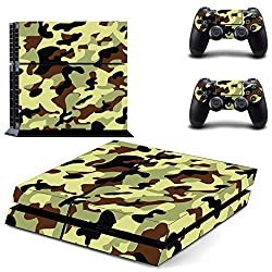 Hytech Plus Military Camouflage Theme Skin Sticker Cover for PS4 Console and Controllers