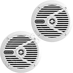 "Alpine Sps-m601w 110w 6a12"" 2-way Type-s Marine Coaxial Speakers - White"
