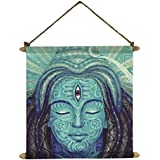 [Sponsored]YaYa Cafe Trance Lord Shiva Wall Paintings, Hangings Canvas Scroll Poster For Home Decor - 15X20 Inches