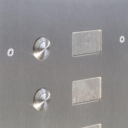 2er Edelstahl Standbriefkasten BASIC 810-SP mit Klingel – Namensschilder – GIRA Kamera & Einbaulautsprecher - 5