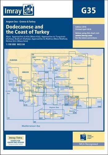 Imray Chart G35: Dodecanese and the Coast of Turkey (Charts Imray)