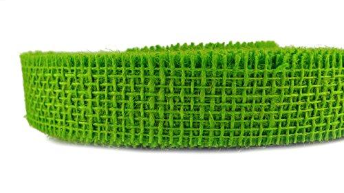 Jute Dekoband (0,53€/m) GRÜN Apfelgrün 40 m x 3 cm Rolle Juteband Farbauswahl Geschenkband Floristikband 30 mm