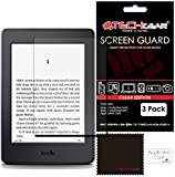 "[Pack of 3] TECHGEAR® Amazon Kindle Paperwhite and Paperwhite 3G eReader with 6"" Dispaly CLEAR LCD Screen Protectors with Cleaning Cloth & Application Card"
