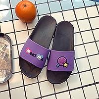 fankou Zapatillas Cool Verano Grueso Femenino Adorable Familia casa Dormitorio de la Plana con Suaves, Zapatillas de Baño Antideslizante,37-38, Lollipop Púrpura