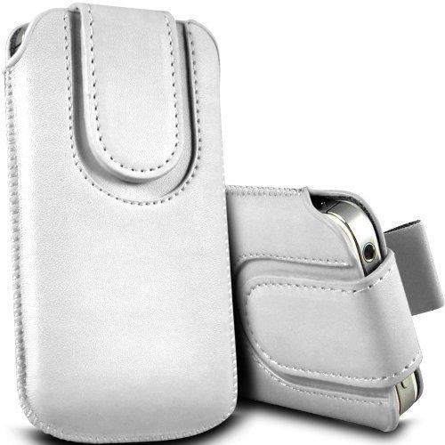 Preisvergleich Produktbild C63 ® Huawei Ascend P7 Premium PU-Leder Tasche Flip Case Schutzhülle Weiß