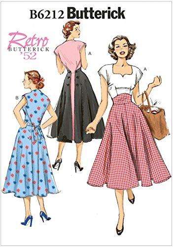 Butterick Patron de couture pour femme 6212Style vintage robes