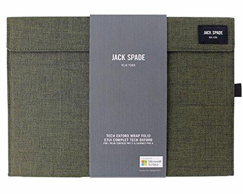Jack Spaten Wrap Folio Case für Surface Pro 3/4-Tech Oxford Olive - Anti-bruch Creme