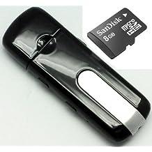 QUMOX Mini USB Camera DV DVR macchina fotografica AUDIO VIDEO Recorder + 8GB MicroSD