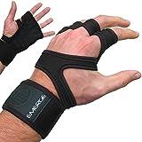 Handschuhe mit Handgelenkbandage & Daumenschlaufe von Emerge – Trainingshandschuhe für CrossFit, Kraftsport & Fitness, Herren & Damen – Sport-Handschuhe für mehr Grip und weniger Hornhaut bei Workouts im Fitnessstudio