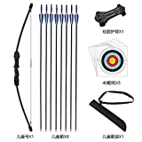 dostyle Outdoor Youth Recurve Bow and Arrow Set Children Junior Archery Training Toy for Kid Teams Game Gift (Black)