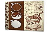 Blechschild XXL Restaurant Küche Kaffee Bohnen Espresso