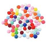 #7: Hexawata 200Pcs Multi Purpose Pom Poms Balls 1cmx1cm