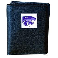 NCAA Kansas State Wildcats Genuine Leather Tri-fold Wallet
