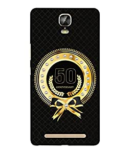 PrintVisa Designer Back Case Cover for Gionee Marathon M5 Plus (Life Love Occasions Aniversary Vision Celebrations)