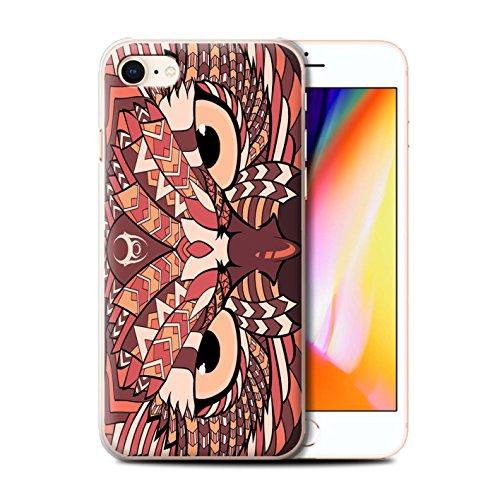 Coque de Stuff4 / Coque pour Apple iPhone 5C / Loup-Bleu Design / Motif Animaux Aztec Collection Hibou-Rouge