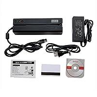 Deftun MSR606 Magnetic Card Reader Writer Encoder Credit Card Swipe USB with 20pcs Blank Cards