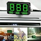 Maso, tachimetro digitale universale per auto e moto, GPS, OBD-II, sistema di allarme overspeed MPH/km/h