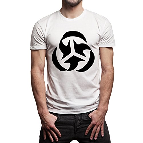 Illuminati Triangle Art Majestic Universe Sign Herren T-Shirt Weiß