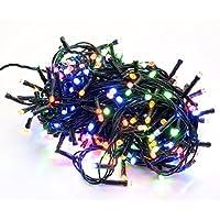 takestop® 400 LED LUCI Colorate Colore Filo Verde Albero di Natale Catena Luminosa Controller 8 FUNZIONI MINILUCCIOLE LAMPADINE
