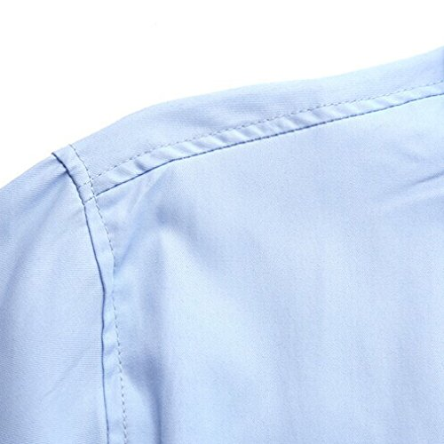 Honghu Homme Chemise Casual Manches Longues Slim Fit Blanc
