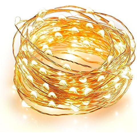 String luci, ARKTeK® 33 ft 100 LED di rame Luci
