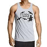 lepni.me Camisetas de Tirantes para Hombre BAAA! - Funny Halloween Costume Ideas, Cool Party Outfits (Large Blanco