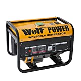 Wolf Power WP2500LR 2500 Watt, 3.12KVA Petrol Powered Generator, 4 Stroke, 6.5HP, Heavy Duty Single Voltage