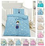Kinder Bettwäsche, Babybettwäsche 100x135 cm + 40x60 cm 100% Baumwolle in verschiedenen Designs, Prinz