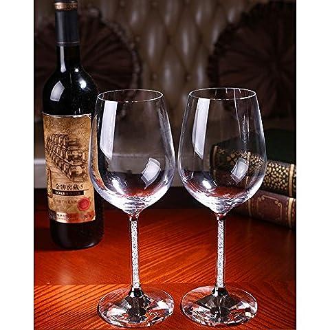 PowerLead Pwin E002 Set of 2 Wine Glasses 13.5 Oz Large White Wine Glassware 100% Lead Free Premium Crystal Glass