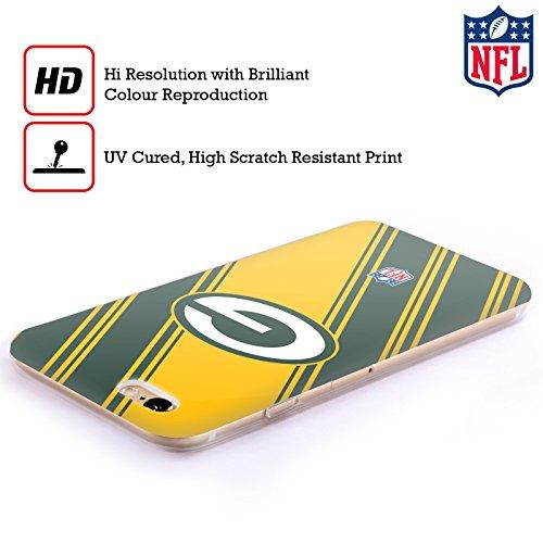 Offizielle NFL Streifen 2017/18 Green Bay Packers Soft Gel Hülle für Apple iPhone 6 / 6s Streifen