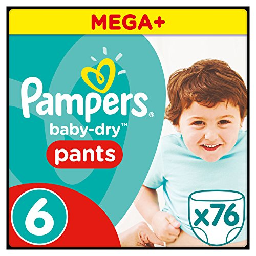 Pampers Baby-Dry Pants Gr.6, 16+kg, 76 Windeln, 76 Stück