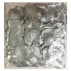 Idea Regalo - Set di 100petali di rosa in tessuto metallizzato argento, a spruzzi, 4.5x 5cm