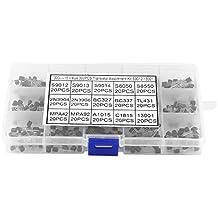 300pcs TO-92 Transistores del silicio 15 Valores en un Conjunto con Caja