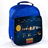 Best Kids Lunches On The Planets - Personalised Solar System Planets St135 Blue Childrens Insulated Review