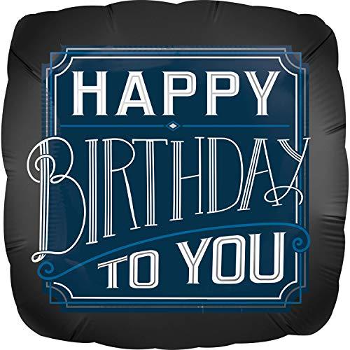 Neu: Folienballon * Happy Birthday - Man * als Deko für eine Party | Größe: 43cm | Folien Ballon Party Partydeko Männer Herren (Birthday Happy Männer)