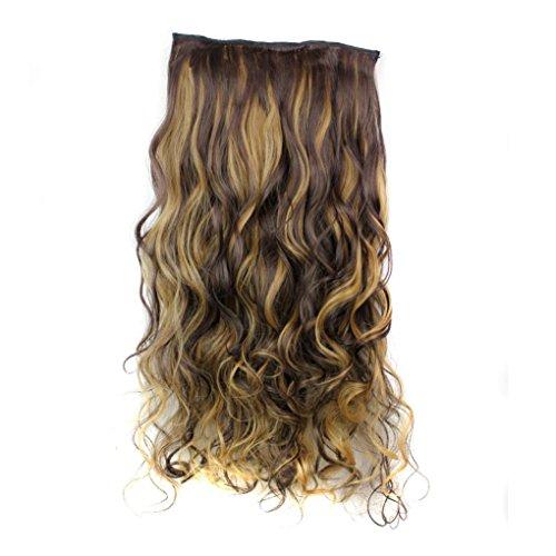 Tianya 5x Frauen Clip Falsche Haar Synthetik-Haar Verlängerung lang lockig hitzebeständig Haar Haarteil - Die Herren-halloween-kostüme Beliebtesten