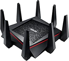 ASUS RT-AC5300 - Router Gaming AC5300 Tri-Banda Gigabit (Link aggregation, Aiprotection con Trend Micro, WTFast acelerador de juegos)