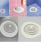 JUNGEN 1 x Dusche Abfluss Abdeckung Ablassen Runde Silikon-Abdeckung,Küche Spüle Sieb 9.8x9cm