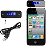 REALMAX® Car Music FM Transmitter universally compatible with all Brand mobiles MP3 Players Tablets & all car models (Black Square)