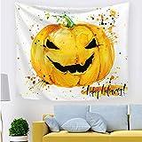 ZLZYY Halloween Kürbis Geist Hexe Tapisserie Ins Wind Hintergrund Tuchkunst Wohnzimmer Schlafzimmer Dekor 211704 150 * 130 cm dünn