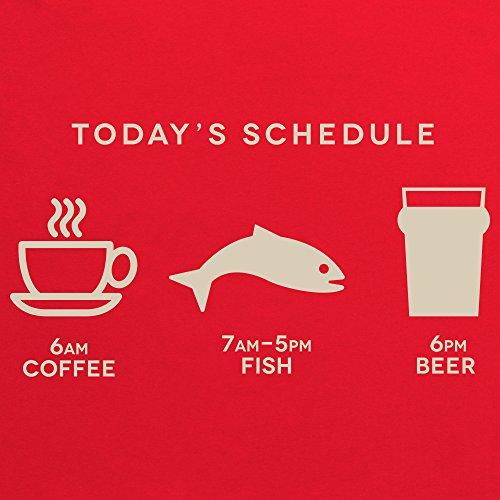 Coffee Fish Beer T-Shirt, Damen Rot