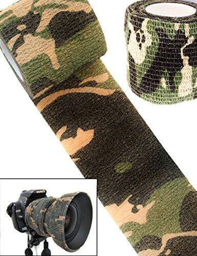 OUTDOOR SAXX® - Camouflage Tarn-Tape | Gewebe-Band Wasserfest mehrfach verwendbar | Kamera, Ausrüstung für Jäger, Angler, Fotografen | 4,5 m x 5 cm (Kamera-ausrüstung)