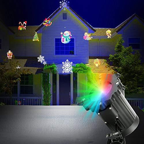 LOVEPET Halloween-Weihnachten-Projektor beleuchtet Effekt-Licht-LED-Landschaft beleuchtet im Freien Innenweihnachtsthema-Partei-Yard-Garten-Dekorationen, 16 Dias (Halloween Freien Im Yard)