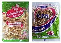 Kovilpatti KPN Kadalai Mittai (Groundnut Chikki Candy) & Thangapandiyan Seeni Sev - Pack of 2 (200gm + 250gm)