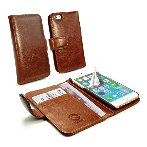 tuff-luv-vintage-genuine-leather-wallet-style-case-cover-for-apple-iphone-6s-free-screen-protector-b